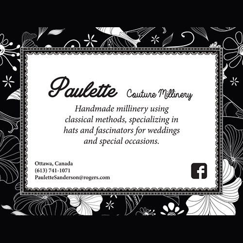 Paulette Couture Millinery - She Shops Business Directory Ottawa