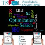 Word cloud re services and products from TROOL Social Media