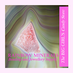 Rainbow Minerals She Shops Local Display AD
