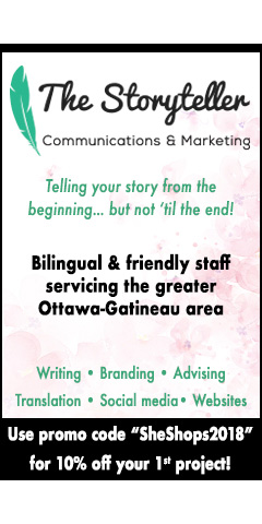 Storyteller Display Ad - She Shops Local Business Directory Ottawa