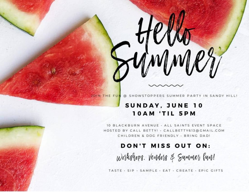 ShowStoppers June 10th - She Shops Local - Call Betty Marketing
